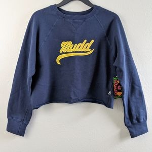 Deadstock 90's Y2K Mudd Cropped Raw Hem Sweatshirt